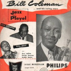Discos de vinilo: EP BILL COLEMAN AND HIS SWING STARS N°1 & N°2 JAZZ A PLEYEL MINIGROOVE PHILIPS. Lote 275300148