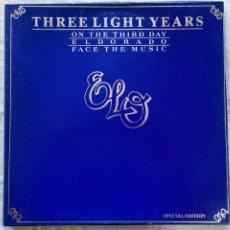 Discos de vinilo: ELECTRIC LIGHT ORCHESTRA - THREE LIGHT YEARS (3XLP + BOX, COMP) (1978/UK). Lote 275303578