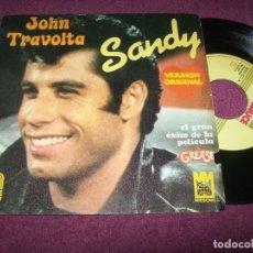 Discos de vinilo: JOHN TRAVOLTA - SANDY - SINGLE DE 1978 - DEL FILM GREASE - BUEN ESTADO. Lote 275310253