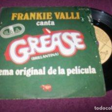 Discos de vinilo: FRANKIE VALLI - GREASE + GREASE (INSTRUMENTAL) ..SINGLE DE 1978. Lote 275310938