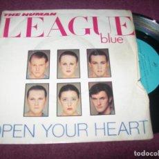 Discos de vinilo: THE HUMAN LEAGUE - OPEN YOUR HEART + NOT-STOP .. SINGLE - ESCASO - 1981 DE LO PRIMERO DEL GRUPO. Lote 275311778