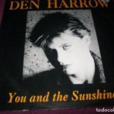 Discos de vinilo: DEN HARROW - YOU AND THE SUNSHINE ..MAXISINGLE DE 1994 - DANCE TECHNO. Lote 275317078