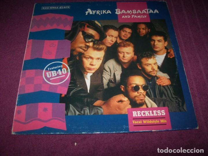 AFRIKA BAMBAATAA AND FAMILY - RECKLESS FEATURING - UB40 ..MAXISINGLE 1988 (Música - Discos de Vinilo - Maxi Singles - Pop - Rock - New Wave Internacional de los 80)