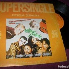 Discos de vinilo: VILLAGE PEOPLE - DO YOU WANNA SPEND THE NIGHT .. MAXISINGLE - ESPECIAL DISCOTECA -1983. Lote 275323923