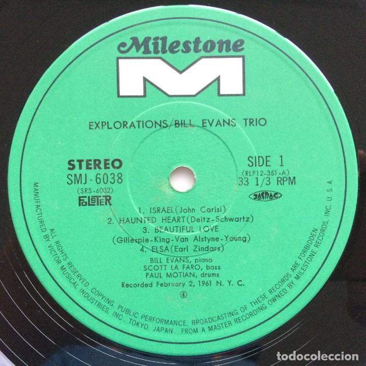 Discos de vinilo: Bill Evans Trio – Explorations Japan,1974 Milestone - Foto 4 - 275341603