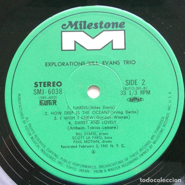 Discos de vinilo: Bill Evans Trio – Explorations Japan,1974 Milestone - Foto 5 - 275341603
