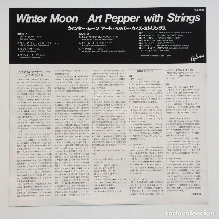 Discos de vinilo: Art Pepper – Winter Moon Japan,1981 Galaxy - Foto 3 - 275341773