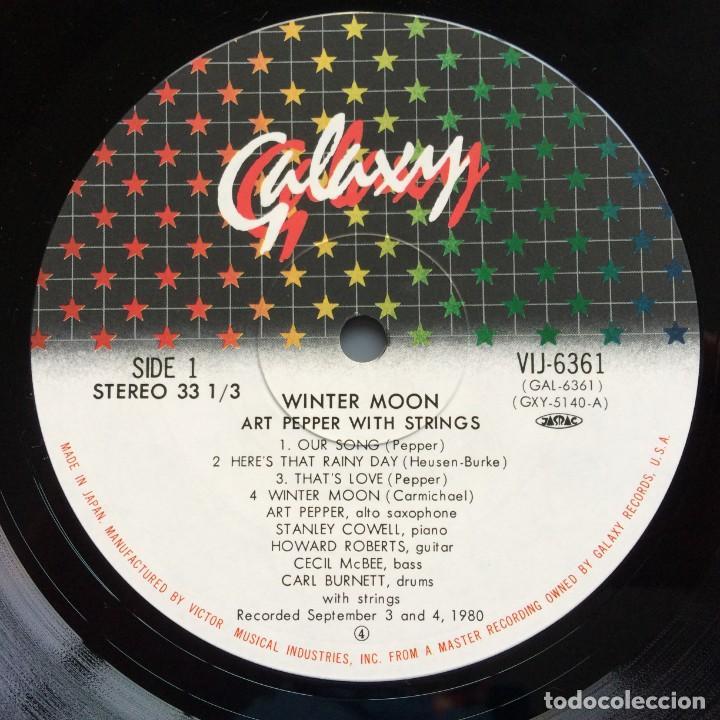 Discos de vinilo: Art Pepper – Winter Moon Japan,1981 Galaxy - Foto 5 - 275341773