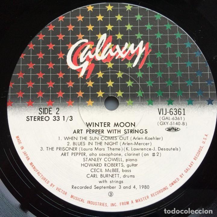 Discos de vinilo: Art Pepper – Winter Moon Japan,1981 Galaxy - Foto 6 - 275341773