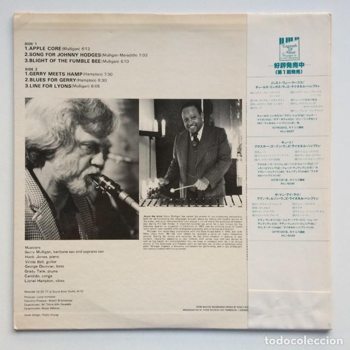 Discos de vinilo: Gerry Mulligan – Lionel Hampton Presents Gerry Mulligan Japan,1977 Legends of Music - Foto 2 - 275341893