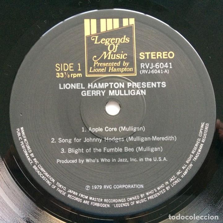 Discos de vinilo: Gerry Mulligan – Lionel Hampton Presents Gerry Mulligan Japan,1977 Legends of Music - Foto 4 - 275341893