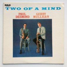 Discos de vinilo: PAUL DESMOND, GERRY MULLIGAN – TWO OF A MIND JAPAN,1972 RCA. Lote 275342243