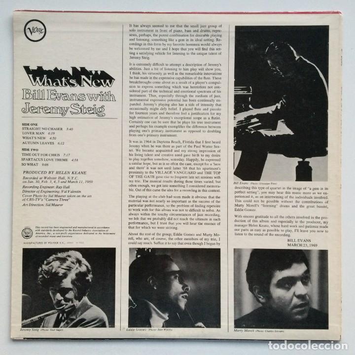 Discos de vinilo: Bill Evans With Jeremy Steig – Whats New Japan,1981 Verve Records - Foto 2 - 275342428