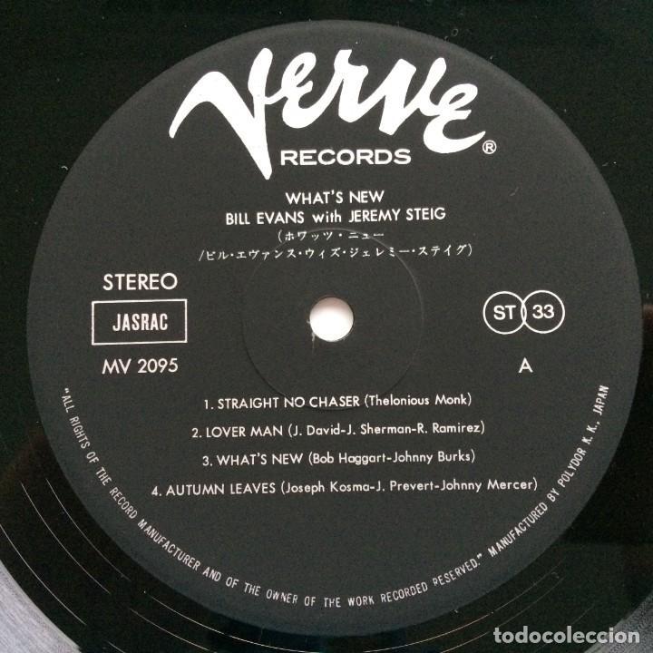 Discos de vinilo: Bill Evans With Jeremy Steig – Whats New Japan,1981 Verve Records - Foto 4 - 275342428