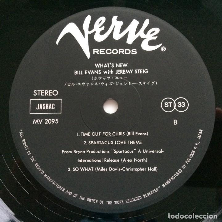 Discos de vinilo: Bill Evans With Jeremy Steig – Whats New Japan,1981 Verve Records - Foto 5 - 275342428