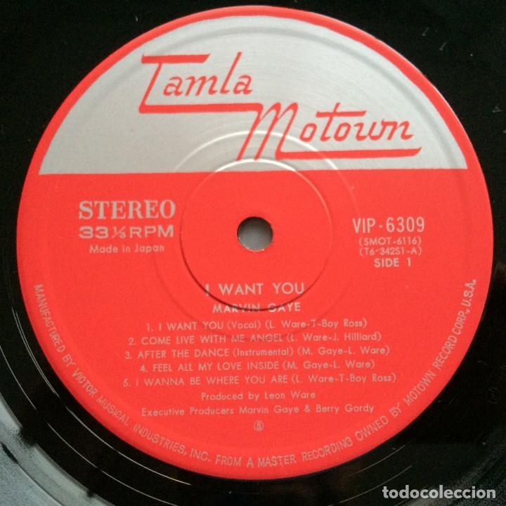 Discos de vinilo: Marvin Gaye – I Want You Japan,1976 Motown - Foto 4 - 275342643