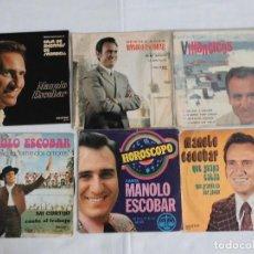 Discos de vinilo: LOTE DE 6 SINGLE DE MANOLO ESCOBAR. Lote 275450818