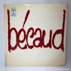 Discos de vinil: LP - VINILO GILBERT BÉCAUD - BÉCAUD - ESPAÑA - AÑO 1970. Lote 275489698