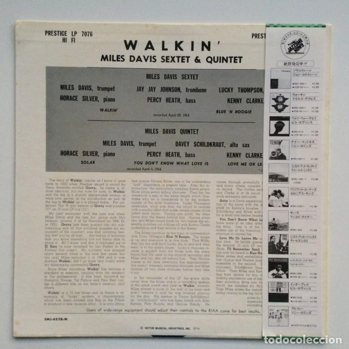 Discos de vinilo: Miles Davis All Stars – Walkin Japan,1976 Prestige - Foto 2 - 275497233