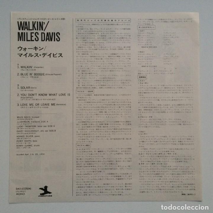 Discos de vinilo: Miles Davis All Stars – Walkin Japan,1976 Prestige - Foto 3 - 275497233