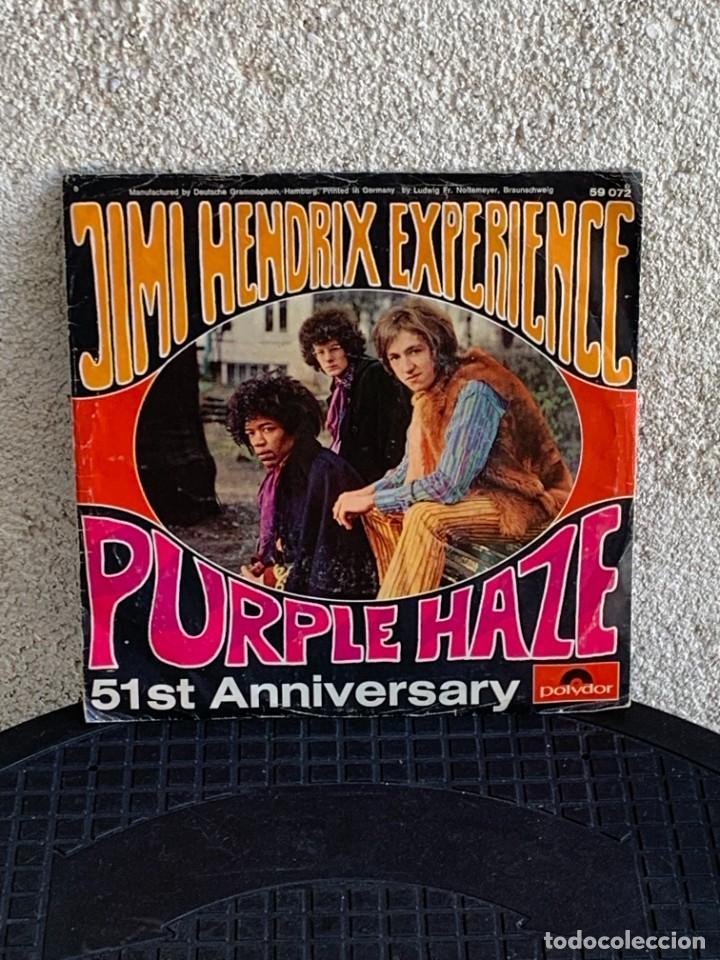 DISCO EP JIMI HENDRIX EXPERIENCE PURPLE HAZE 51ST ANNIVERSARY MADE IN GERMANY 18X18CMS (Música - Discos de Vinilo - EPs - Pop - Rock Internacional de los 50 y 60)