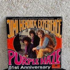 Discos de vinilo: DISCO EP JIMI HENDRIX EXPERIENCE PURPLE HAZE 51ST ANNIVERSARY MADE IN GERMANY 18X18CMS. Lote 275531168