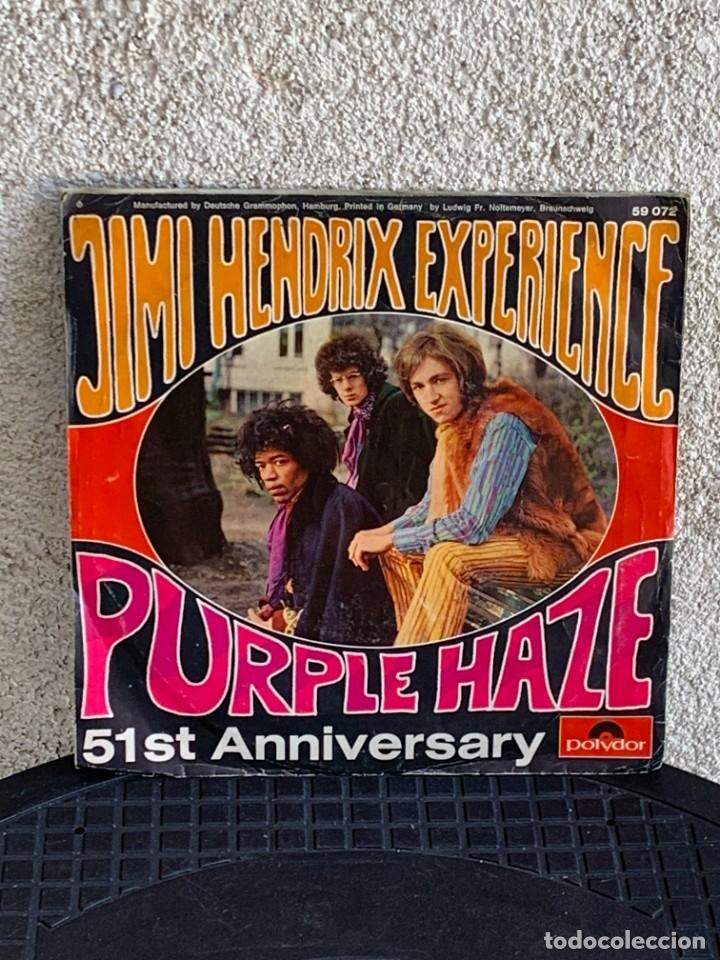 Discos de vinilo: DISCO EP JIMI HENDRIX EXPERIENCE PURPLE HAZE 51ST ANNIVERSARY MADE IN GERMANY 18X18CMS - Foto 2 - 275531168