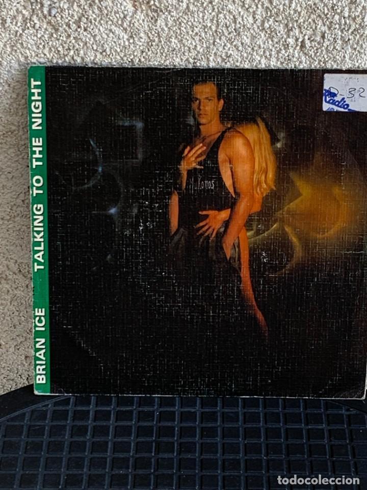 DISCO EP BRIAN ICE TALKING TO THE NIGHT 1985 18X18CMS (Música - Discos de Vinilo - EPs - Pop - Rock - New Wave Internacional de los 80)