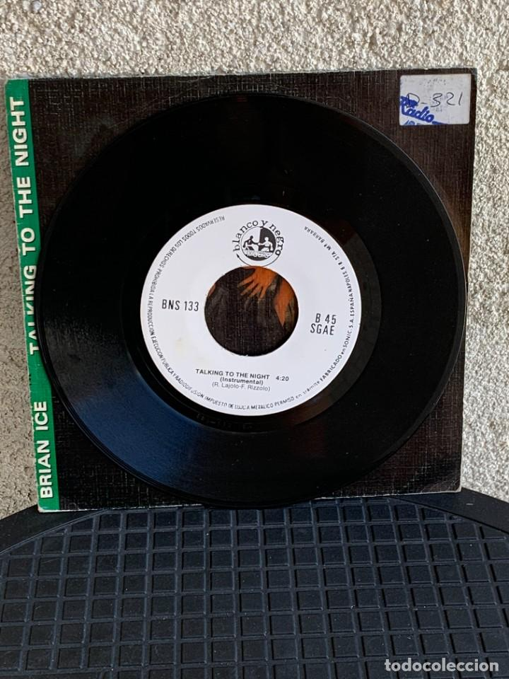 Discos de vinilo: DISCO EP BRIAN ICE TALKING TO THE NIGHT 1985 18X18CMS - Foto 7 - 275538518
