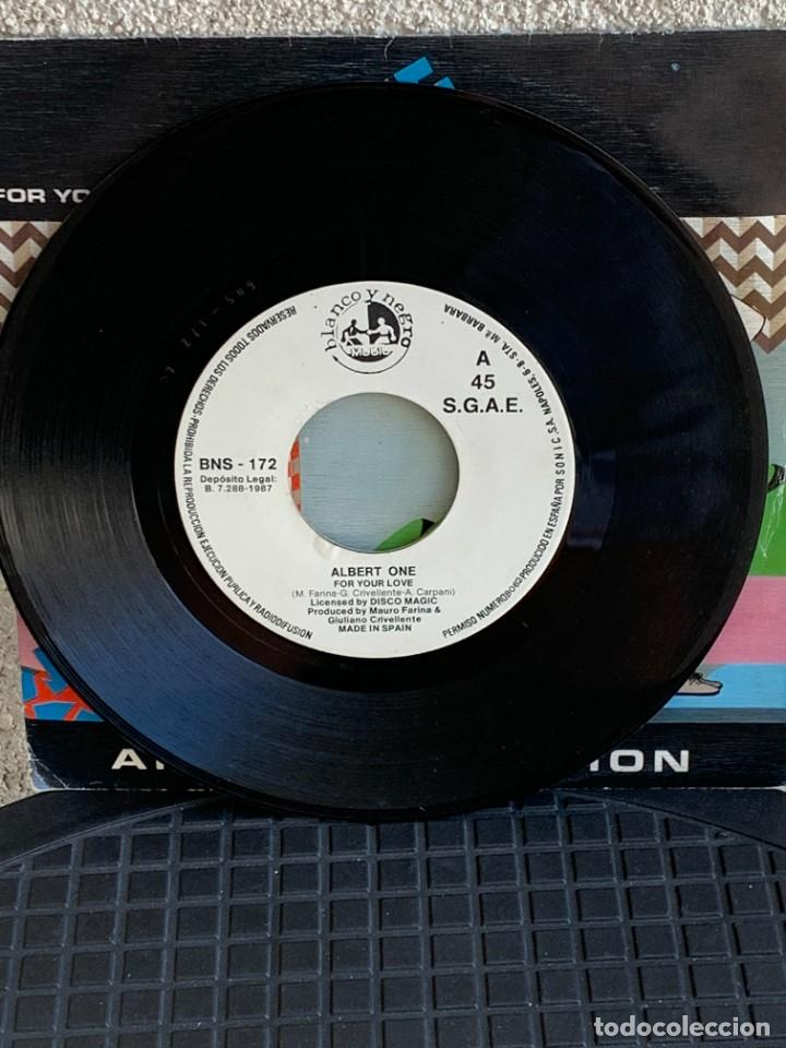 Discos de vinilo: DISCO EP ALBERT ONE FOR YOUR LOVE ANOTHER VERSION 18X18CMS - Foto 5 - 275538758
