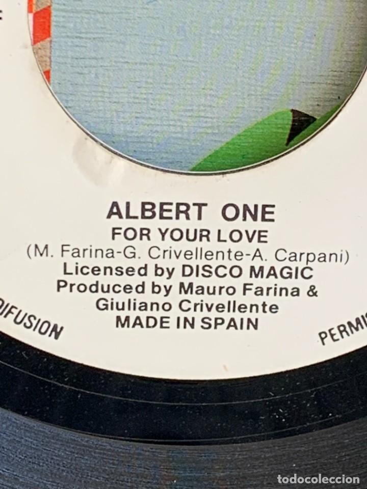 Discos de vinilo: DISCO EP ALBERT ONE FOR YOUR LOVE ANOTHER VERSION 18X18CMS - Foto 6 - 275538758