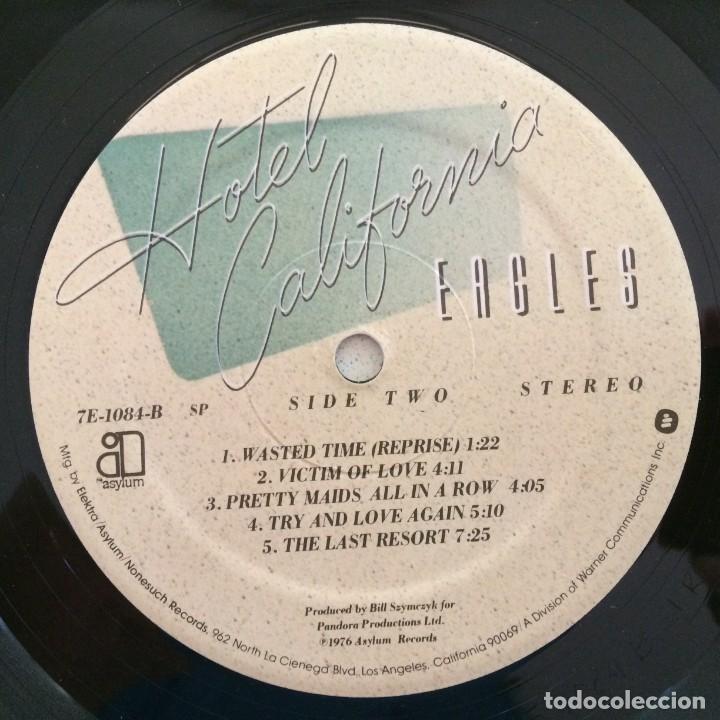 Discos de vinilo: Eagles – Hotel California USA,1976 Asylum Records - Foto 8 - 275555088