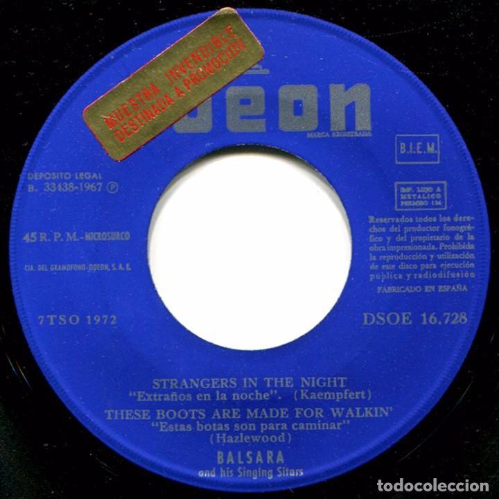 Discos de vinilo: Balsara - Strangers In The Night - Ep Spain 1967 - Odeon DSOE 16.728 - Beatles - Foto 3 - 275306143