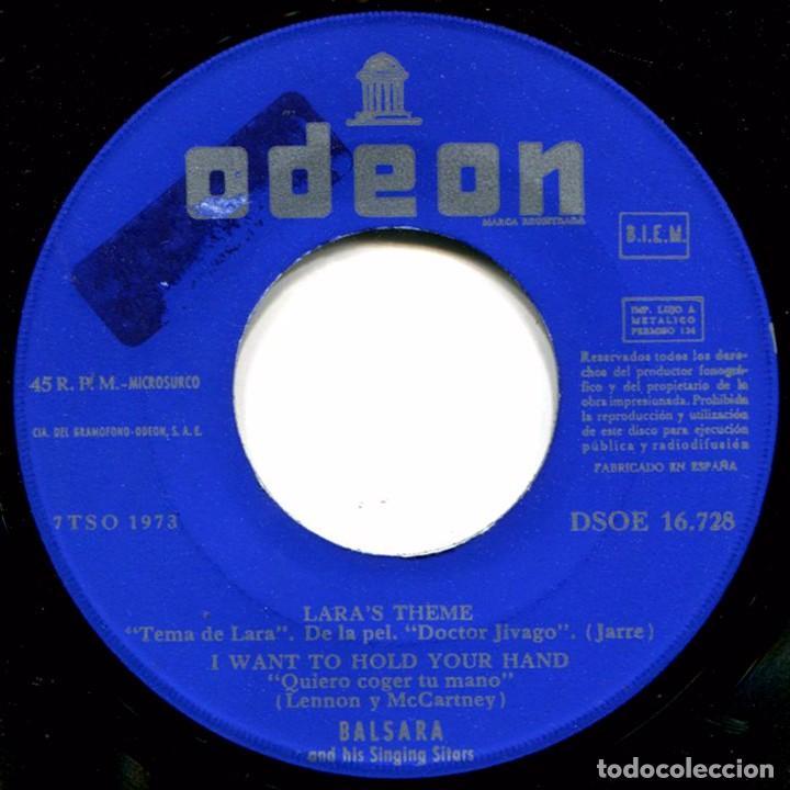 Discos de vinilo: Balsara - Strangers In The Night - Ep Spain 1967 - Odeon DSOE 16.728 - Beatles - Foto 4 - 275306143