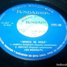 Discos de vinilo: LOS MONDAYS JARRITA MARRON/ JERICHO/LA PALOMA/EL RELOJ DEL ABUELITO EP 1966 FUNDADOR. Lote 275602028