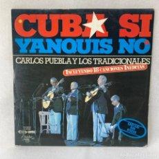 Discos de vinilo: LP CARLOS PUEBLA Y LOS TRADICIONALES - CUBA SI YANQUIS NO - DOBLE PORTADA - 2 LP'S - ESPAÑA - 1977. Lote 275653598