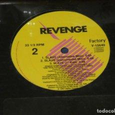 Disques de vinyle: MUSICA ELECTRONICA MAXI SINGLE REVENGE SLAVE THE SMOOTH REMIXES 1990 SELLADO DE FABRICA. Lote 275691748