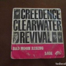 Disques de vinyle: CREEDENCE CLEARWATER REVIVAL BAD MOON RISING. Lote 275712773
