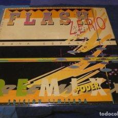 Discos de vinil: MUSICA ELECTRONICA MAXI SINGLE FLASH ZERO RAYA ESPAÑA MARCA 21 CIERTO USO ACEPTABLE. Lote 275713523