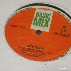 Discos de vinil: MUSICA ELECTRONICA MAXI SINGLE WESTBAM DISCO DEUCHSTLAND 1989 BASTANTE SOBADO AUN ACEPTABLE. Lote 275714018