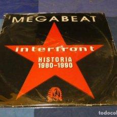 Discos de vinil: MUSICA ELECTRONICA TRIPLE LP INTERFRONT MEGABEAT HISTORIA 1980-1990 LEVE USO ACEPTABLE. Lote 275718138