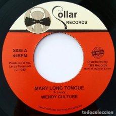 "Discos de vinilo: WENDY CULTURE / CHUCKLEBERRY - MARY LONG TONGUE / FALLA FALLA 7"" [COLLAR / TOP RANKING SOUND, 2017]. Lote 275719238"