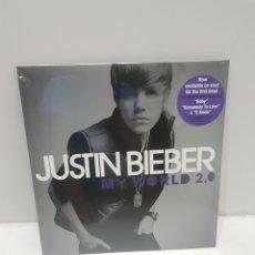 Discos de vinilo: LP JUSTIN BIEBER MY WORLD 2.0 NUEVO. Lote 275722543