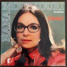 Discos de vinilo: NANA MOUSKOURI 'LIBERTAD' LP VINILO ÁLBUM 1986 EN ESPAÑOL. Lote 275724933