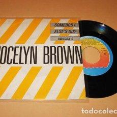 Discos de vinilo: JOCELYN BROWN - SOMEBODY ELSE´S GUY - SINGLE - 1984. Lote 275736673