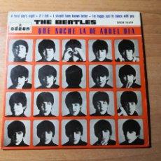 Discos de vinilo: THE BEATLES EP QUÉ NOCHE LA DE AQUEL DÍA 1964. Lote 275778528