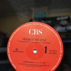 Discos de vinilo: FRANCO DE VITA PROMESAS 1988 EDIC. PROMOCIONAL VENEZOLANA. Lote 275782893