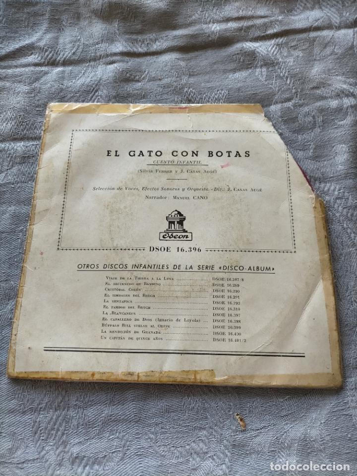 Discos de vinilo: Vinilo single El gato con botas - Foto 2 - 275789708
