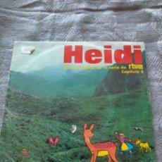 Discos de vinilo: VINILO SINGLE LOS HEIDI BANDA SONORA ORIGINAL BSO RTVE CAPITULO 3. Lote 275790193