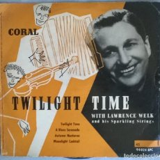 Discos de vinilo: LAWRENCE WELK & SPARKLING STRINGS. TWILIGHT TIME/ A BLUES SERENADE/ AUTUMN NOCTURNE/ COCKTAIL. CORAL. Lote 275792053
